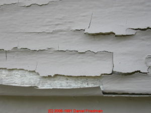 Lead poisoning can occur from peeling paint.